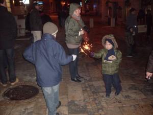 Karácsonyi csillagszóró(zás)